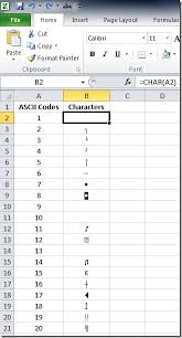 Hex Ascii Table Formula Watch Convert To And From Ascii Codes In Excel U2013 The