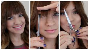 trim your bangs at home my tips and tricks youtube