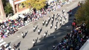 knightdale hs marching band in raleigh parade 2016