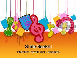 musical shapes music powerpoint template 0910 powerpoint themes