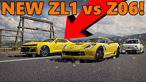 camaro zl1 vs corvette forza horizon 3 car pack 2017 camaro zl1 vs corvette z06