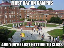 First Day Of College Meme - image tagged in memes spongegar meme college freshman college imgflip