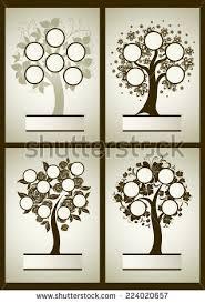 vector family tree design frames autumn stock vector 113336239