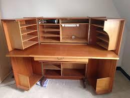 solid wooden hideaway desk bureau with loads of storage lockable