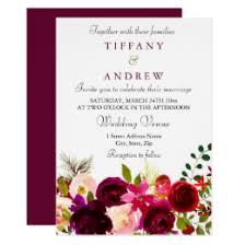 burgundy flowers burgundy flowers wedding invitations announcements zazzle