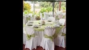 mariage et blanc decoration de salle de mariage blanc et vert