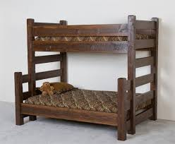 Lodge XL Twin Over Queen Barnwood Bunk Bed Sale - Extra long twin bunk bed