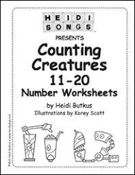counting creatures vol 2 numbers 11 20 heidi songs