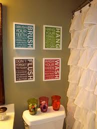 Pinterest Kids Bathroom - bathroom signs love them love the shower curtain but might be to