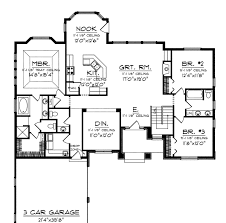 Side Garage Floor Plans by Home Plan Reinvented Ranch Smartly Downplays Garage Startribune Com