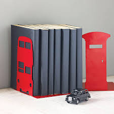 london transport and british icon bookend by susan bradley design