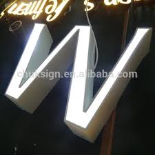 large light up letters 3d white front lit stainless steel large led alphabet light up