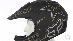 fox motocross gear for men fox racing rockstar rampage helmet youtube