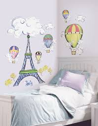 kids room wall decal ideas for decorations black blue vinyl full size colorful hot air ballons kids wall art decor decals design idea white hardwood