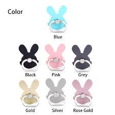 silver rabbit ring holder images Haobuy universal 180 degree pop rabbit phone stand socket fing jpg