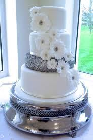 white wedding cake silver and white wedding cake x x x cake by alison s bespoke