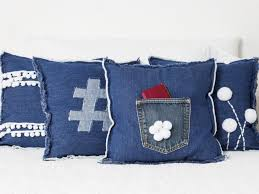 Denim Home Decor Upcycle Jeans Into Teen Bedroom Pillows Diy Network Blog Made