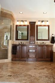 Noce And Cafe Light Travertine Bathroom Remodel Traditional - Travertine in bathroom