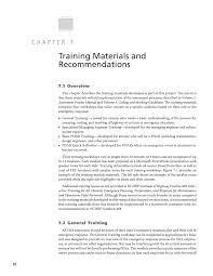 chapter 7 training materials and recommendations assessing