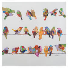 birds on a wire painting yosemite home decor revealed artwork birds on a wire ii original painting on wrapped canvas