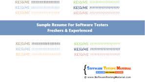 Software Tester Resume 100 Manual Testing Resume Career Playbook Resume Cover Letter