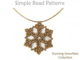 necklace pattern collection images Beaded snowflake pattern diy earrings necklace beading tutorial jpg