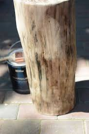 Tree Trunk Table Tree Stump Table With Casters All Things Heart And Home