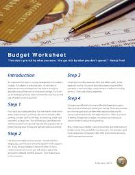 How To Set Up A Monthly Budget Spreadsheet Advisorselect Budget Worksheet U201c You Don U0027t Get Rich By What