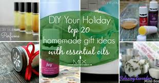 holiday gift ideas diy holiday 20 homemade gift ideas with essential oils