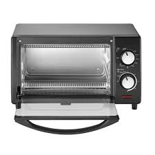 Next Toaster 4 Slice Countertop Toaster Oven In Black Emerson Radio