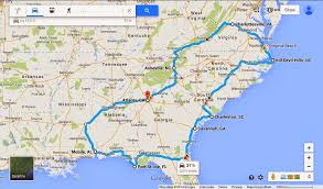 road map of southeast us south east us roadtrip map southeast road trip phase cdoovision