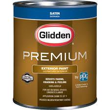 glidden premium 1 qt satin latex exterior paint gl6911 04 the