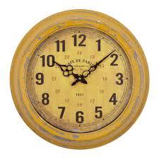 Home Decor Wall Clocks Yosemite Home Decor 16 In Circular Iron Wall Clock In Distressed