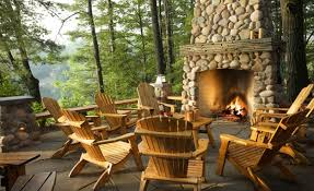 beautiful outdoor stoned fireplace design foxy fireplace design