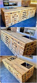 repurposed kitchen island wooden pallets repurposed kitchen island wood pallet furniture