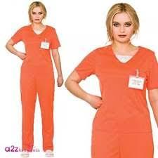 Orange Prison Jumpsuit Halloween Costume Womens Convict Costume Ebay