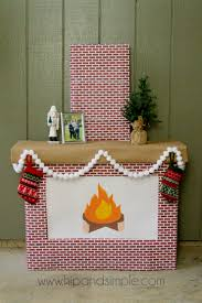 christmas faux cardboard fireplace mantel hip u0026 simple