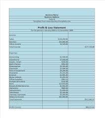 Sle Profit And Loss Sheet by Profit And Loss Template Kodiaq Zawaj Info
