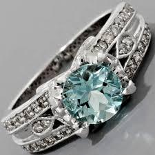 antique aquamarine ring art nouveau engagement ring