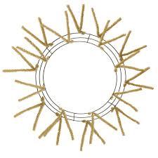 wreath forms 15 24 tinsel work wreath form burlap xx7504w4 mardigrasoutlet