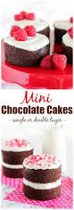 mini chocolate cakes recipe single layer cakes double layer