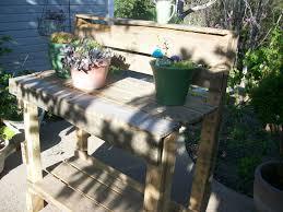 Outdoor Pallet Furniture Easy Outdoor Pallet Potting Bench U2022 1001 Pallets