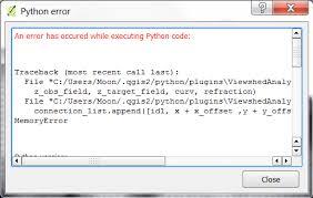 qgis viewshed tutorial python error memory on viewshed analysis plugin qgis geographic