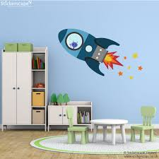 flying rocket wall sticker space wall stickers stickerscape uk blue flying rocket wall sticker space wall stickers stickerscape uk