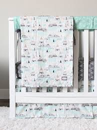 woodlands nursery crib bedding arrow baby set tee pees minky
