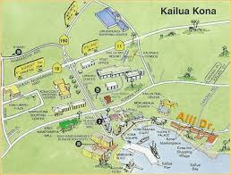 map kona usa map of downtown kona on the big island big island of hawaii