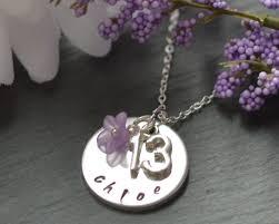 girls personalized necklace images 13th birthday gift teenage girl jewelery thirteen jewellery jpg