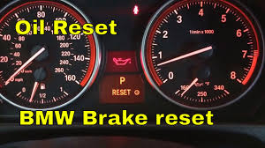 bmw 328i 335i 335xi 328xi oil reset brake reset youtube