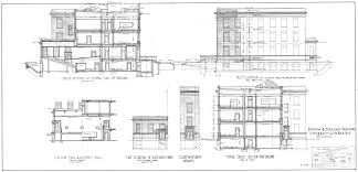 townhouse plans gallery one building plans house exteriors