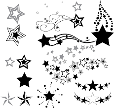 stars and swirls tattoo design sketches by bixotattoo clip art